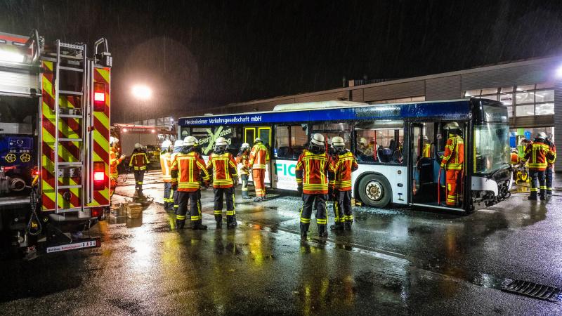 Ein Bus als Unfall-Übungsobjekt