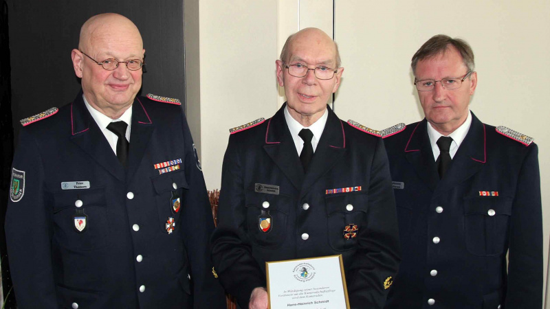 Hans-Heinrich Schmidt - eine zuverlässige Stütze im Kameradschaftsbund ehemaliger Wehrführer
